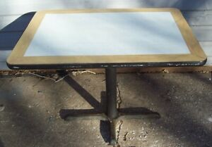 Restaurant Equipment 29 Standard Height Table With Base 42 X 30 Brown white
