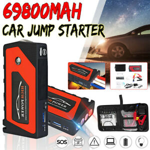 69800mah Portable 12v Car Jump Starter Usb Power Bank Battery Booster Clamp New