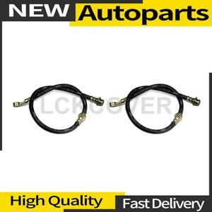 2x Brake Hydraulic Hose Rear Centric Parts For 2017 2018 Fiat 124 Spider
