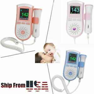 3color Lcd Pocket Fetal Doppler Prenatal Heart Baby Monitor Vascular Doppler gel
