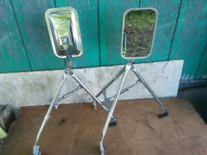 Vintage Set Of Chrome Towing Mirrors 8 x5