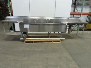 Commercial 3 Compartment Stainless Steel Sink W disposal Immersion Heater