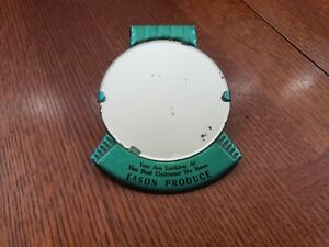 Vintage Clip On Vanity Visor Mirror Eason Produce Advertising Gm Chevrolet Green