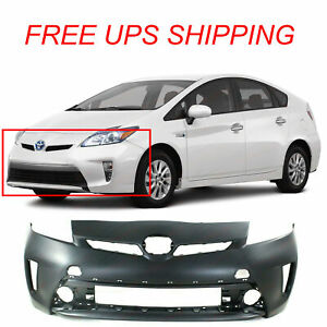Primed Front Bumper Cover Fascia For 2012 2015 Toyota Prius 5211947934 To1000394