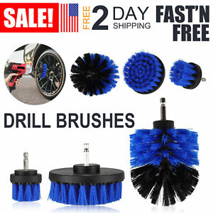 3pcs Car Washing Electric Brush Hard Bristle Drill Auto Detailing Cleaning Tools