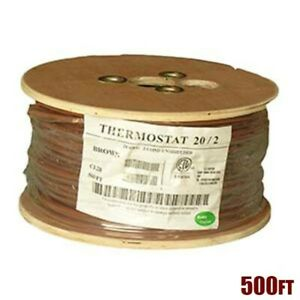 500ft 20 2 Unshielded Cmr Heating Air Conditioning Hvac Ac Thermostat Cable Wire