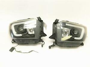 14 15 16 Toyota Tundra Headlight Set W Led Light Aftermarket Set See Pics Parts