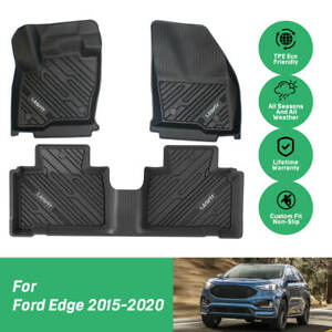 Custom fit Car Floor Mats Liners For Ford Edge 2015 2020 All Weather Carpets