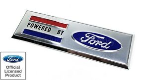 Powered By Ford Adhesive Fender Emblem For Ford Mustang 4 1 2 X 1 1 2