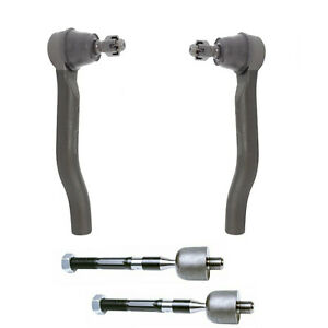 4pc Inner Outer Tie Rod Ends Fits 2 4l 2013 17 Honda Accord 2015 20 Acura Tlx