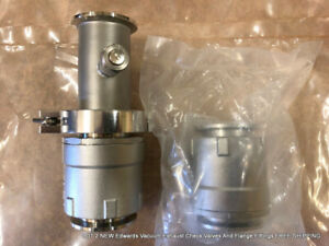 Lot 2 New Edwards Vacuum Exhaust Check Valves And Flange Fittings Free Shipping