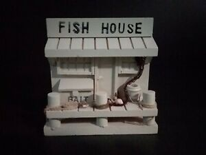4 Wooden Fish House Box Desktop Drawer Organizer Taiwan Pencil Holder
