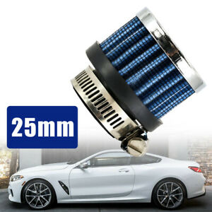 1pc 25mm Blue Mini Air Intake Crankcase Breather Filter Valve Cover Catch Tank