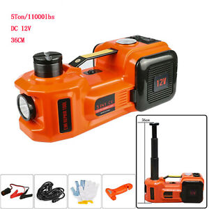 Portable 12v 5ton Car Electric Hydraulic Floor Jack Lift Led Air Inflator Led
