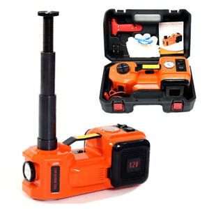 12v 5ton Car Floor Jack Electric Hydraulic Jack Air Infator Led Emergency Repair