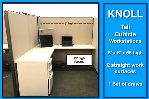 Knoll Morrison Cubicle Workstations Tall Panels For Social Distancing