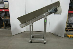 Steiff 72 Adjustable Incline Material Small Parts Conveyor 6 Wide 10 Fpm 460v