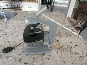 Vintage Ao Spencer Microscope With Light House Works Great Nice
