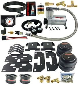 Air Tow Assist Kit White Gauge In Cab Control For 03 13 Ram 3500 Truck Lifted 4