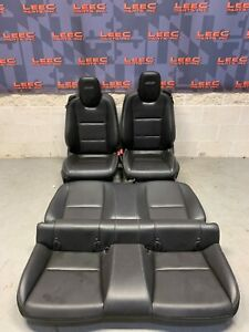 2010 Chevrolet Camaro Ss Oem Black Leather Front Rear Seats