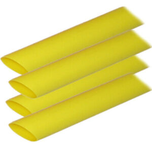 Ancor Adhesive Lined Heat Shrink Tubing alt 3 4 X 12 4 pack Yellow