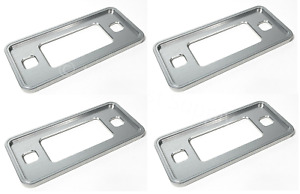 Set 4 Anodized Aluminum Low Side Marker Bezels For 1970 77 Ford Bronco