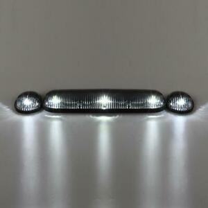 3x Clear Cab Roof Marker Lights 194 5050 White Led wire For Chevy Gmc 2002 2007