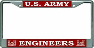 U s Army Engineers Chrome License Plate Frame