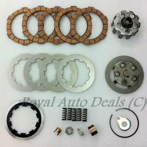 Lambretta 5 Plates Clutch Kit Housing flanges plates springs corks Brand New
