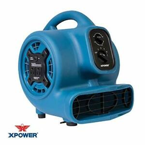 Xpower P 230at Mini Mighty Air Mover Utility Blower Fan With Built in Power O