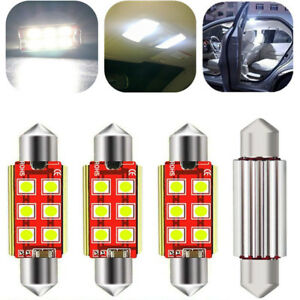 4pcs Canbus Dome Light 578 White Led Bulbs For Chevy Silverado 1500 2500 3500