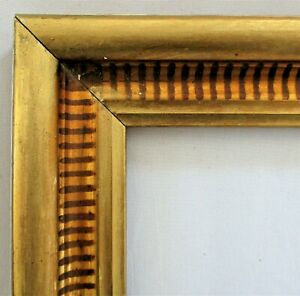 Antique Fits 10 X 12 Lemon Gold Gilt Stenciled Frame Fine Art Victorian