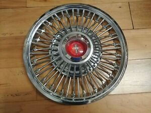 631 14 67 69 Ford Mustang Wire Spoke Hubcap Wheelcover 1 Used Driver