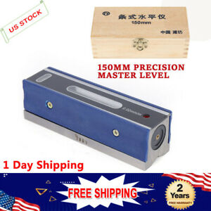 6 6 Inch Master Precision Level In Fitted Box For Machinist Tool 0 0002 10