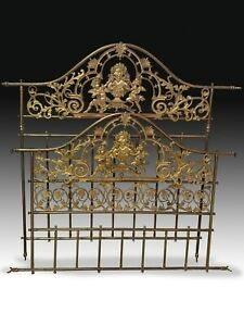 Bed Frame Gilded Bronze And Metal 19th Century