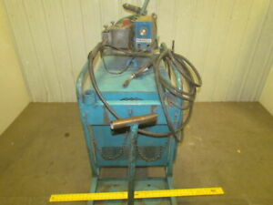 Hobart Rc250 250 Amp 3ph Dc Wire Feed Welder W cart Cables Gun 230 460 V 3ph