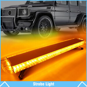 38 72 Led Amber Strobe Light Bar Emergency Beacon Warn Tow Truck Response Us