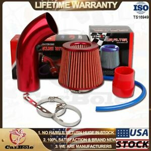 Car Cold Air Intake Filter Induction Kits Pipe Power Flow Hose System Universal