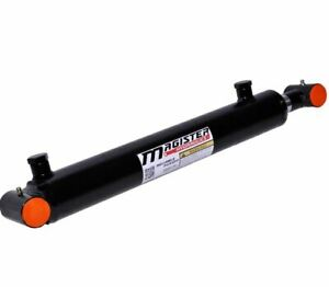Hydraulic Cylinder Welded Double Acting 2 Bore 18 Stroke Cross Tube 2x18 New