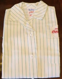 Original Vintage Coca-Cola Employee Uniform Shirt 1970's Coca-Cola Logo size 30