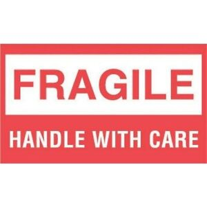 3 X 5 Fragile Handle With Care Labels 500 Per Roll