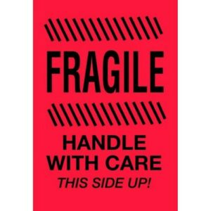4 X 6 Fragile Handle With Care This Side Up Labels 500 Per Roll