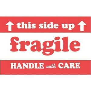 3 X 5 Fragile This Side Up Handle With Care Labels 500 Per Roll