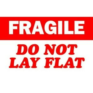 3 X 5 Fragile Do Not Lay Flat Labels 500 Per Roll