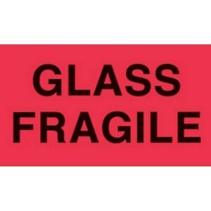 3 X 5 Glass Fragile Labels 500 Per Roll