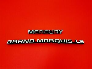 1992 1997 Mercury Grand Marquis Ls Rear Trunk Emblem Badge Logo Sign Set Oem 94