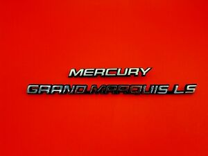 1992 1997 Mercury Grand Marquis Ls Rear Trunk Emblem Badge Logo Sign Set Oem 97