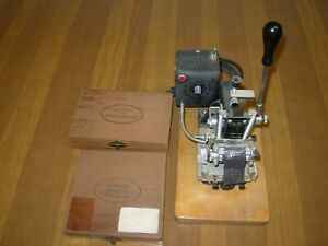 Kingsley Machine Model Kte 6 For Wire Stamping With Letter Set And Parts