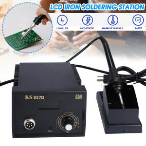 937d Electric Iron Soldering Station Welders Welding With Stand Sponge Esd 110v