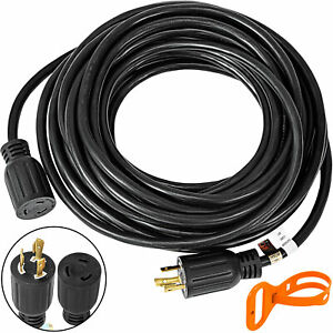 Generator Power Cord Extension Cord 50ft 30a L6 30p To L6 30r Locking Connector